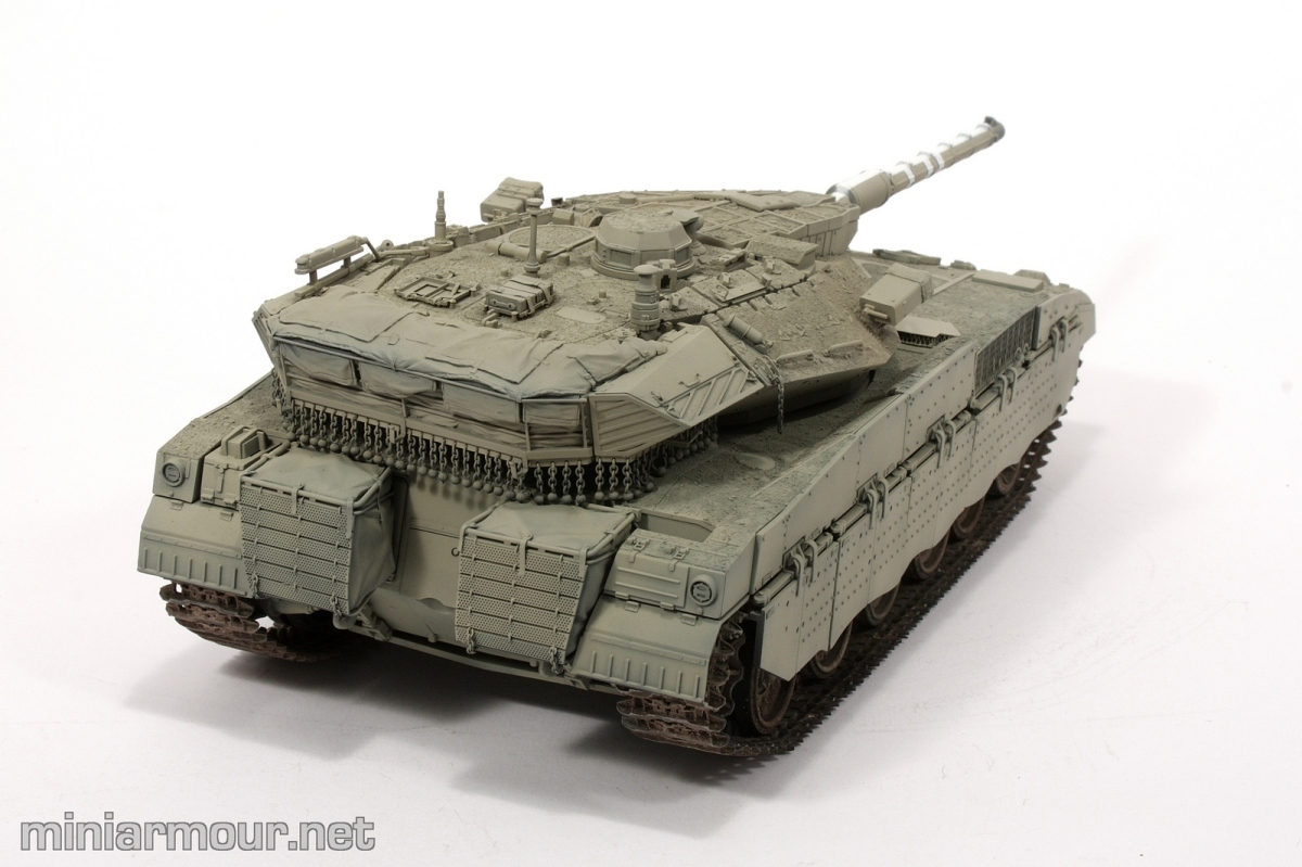 Merkava 2D – Part 4:  Preshading and base coat